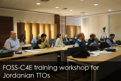 FOSS-C4E training workshop for Jordanian TTOs