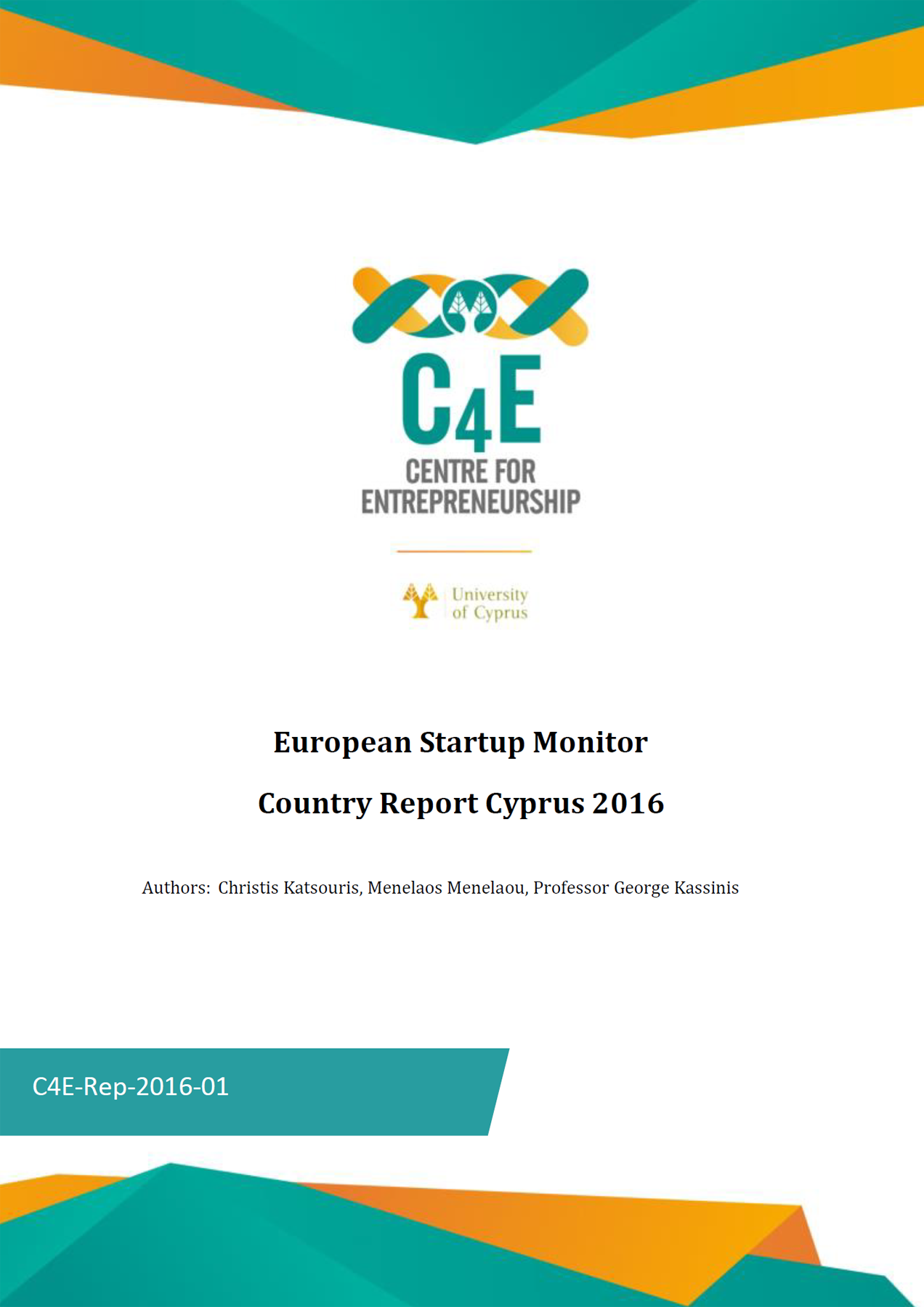 European Startup Monitor - Country Report Cyprus 2016