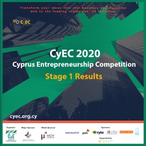 Cyprus Entrepreneurship Competition CYEC 2020 Stage 1 Results