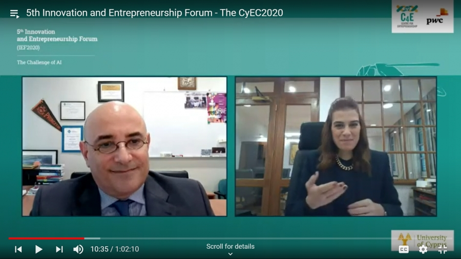 """[12 Jan] Conclusion on the 5th annual Innovation & Entrepreneurship Forum (IEF2020) - """"The Challenge of AI"""""""